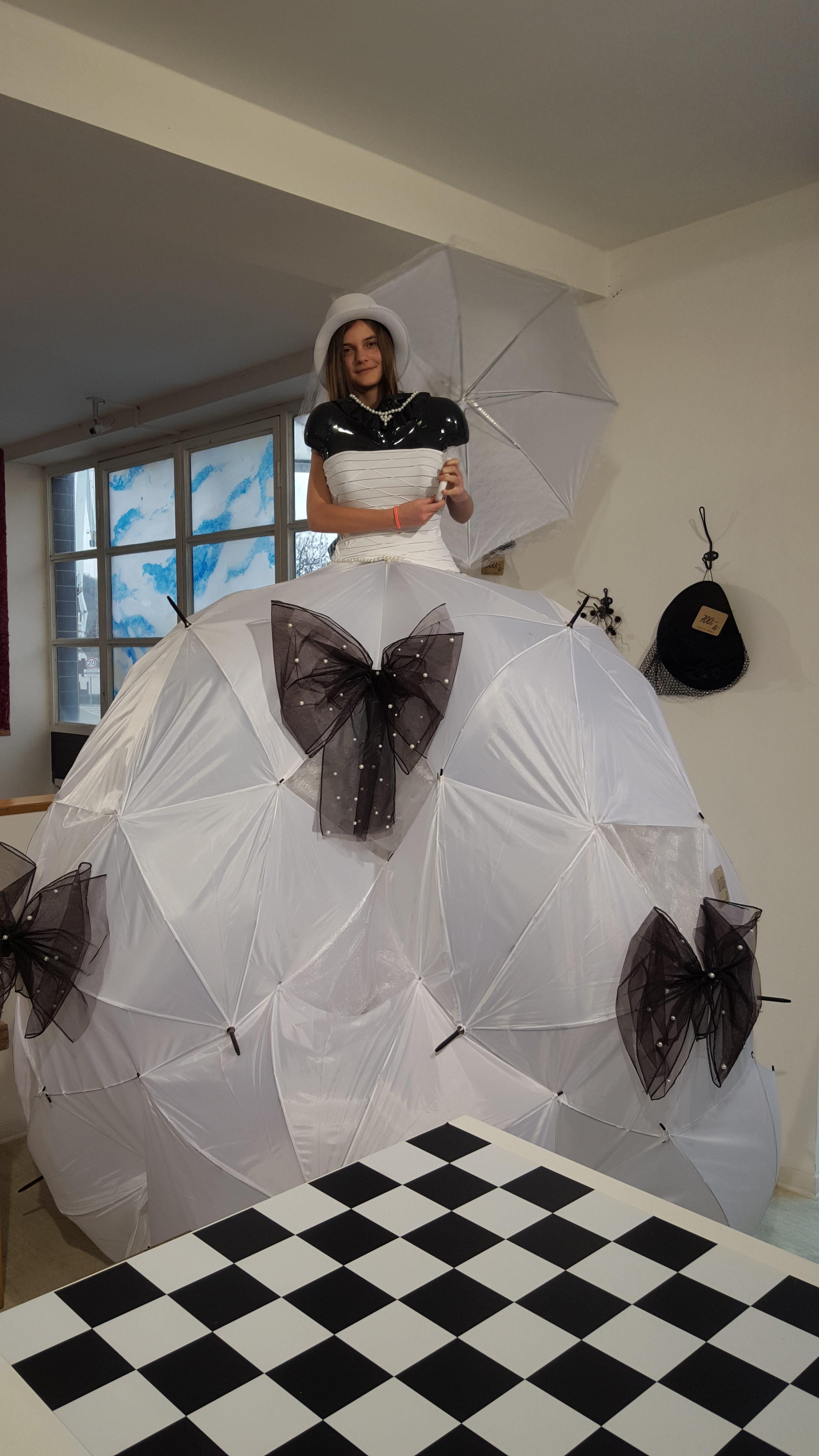 a s deštníkem